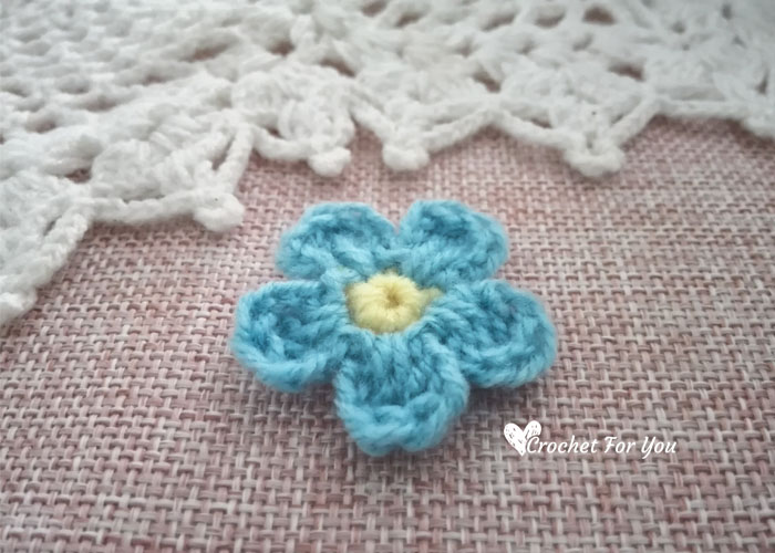 How to Crochet Flower Forget Me Not free crochet pattern