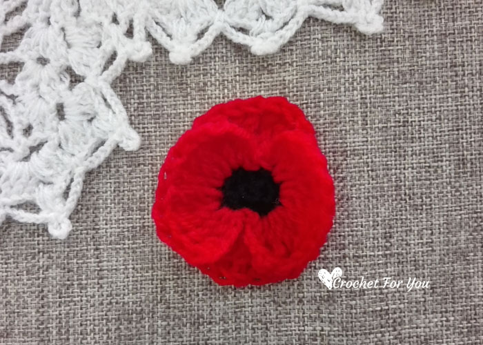 Crochet Poppy Flower Free Pattern 5 Crochet For You