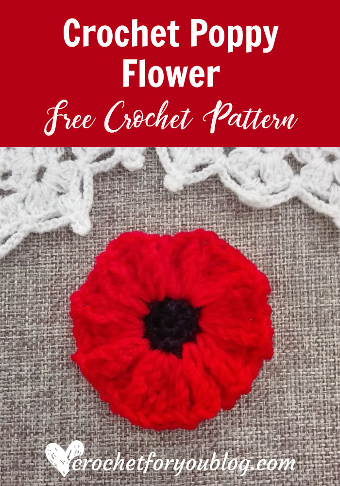 Crochet Poppy Flower Free Pattern Crochet For You