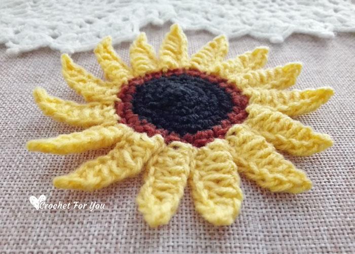 Crochet Sun Flower Free Pattern