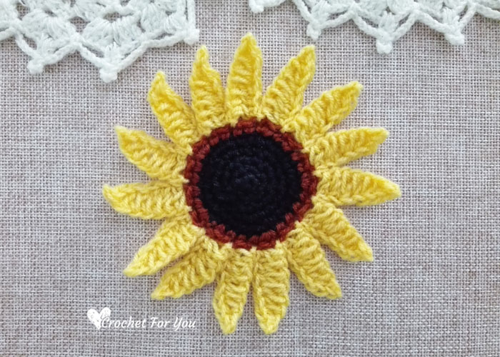 Crochet Sunflower Free Pattern Crochet For You