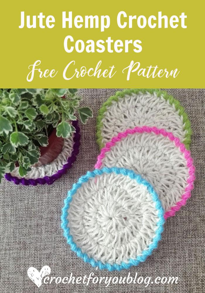 Jute Hemp Crochet Coasters Free Pattern Crochet For You
