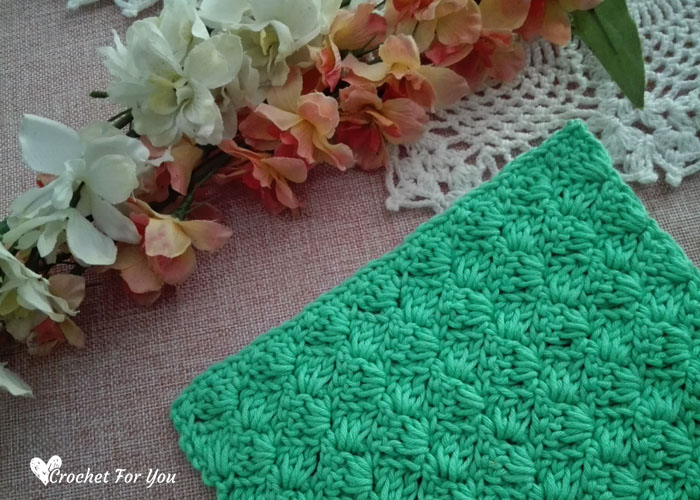 Crochet Tulip Stitch Dishcloth Free Pattern 2 Crochet For You