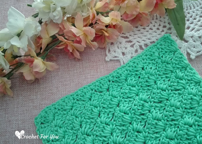 Crochet Tulip Stitch Dishcloth Free Pattern 22 Crochet For You