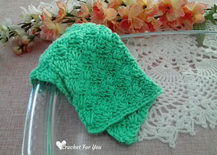 Crochet Tulip Stitch Dishcloth Free Pattern 4 Crochet For You
