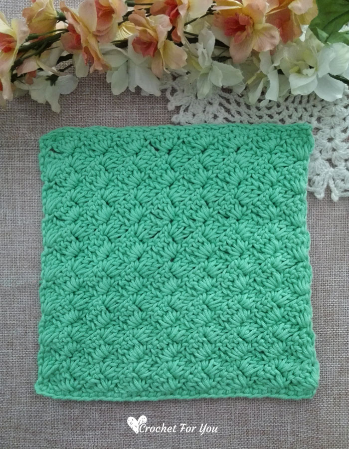 Crochet Tulip Stitch Dishcloth Free Pattern3 Crochet For You