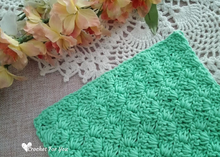 Crochet Tulip Stitch Dishcloth Free Pattern Crochet For You