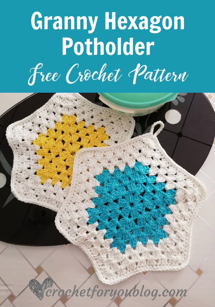 Crochet Granny Hexagon Potholder Free Pattern Crochet For You