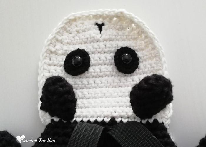 Crochet Panda Backpack Free Pattern 1 Crochet For You