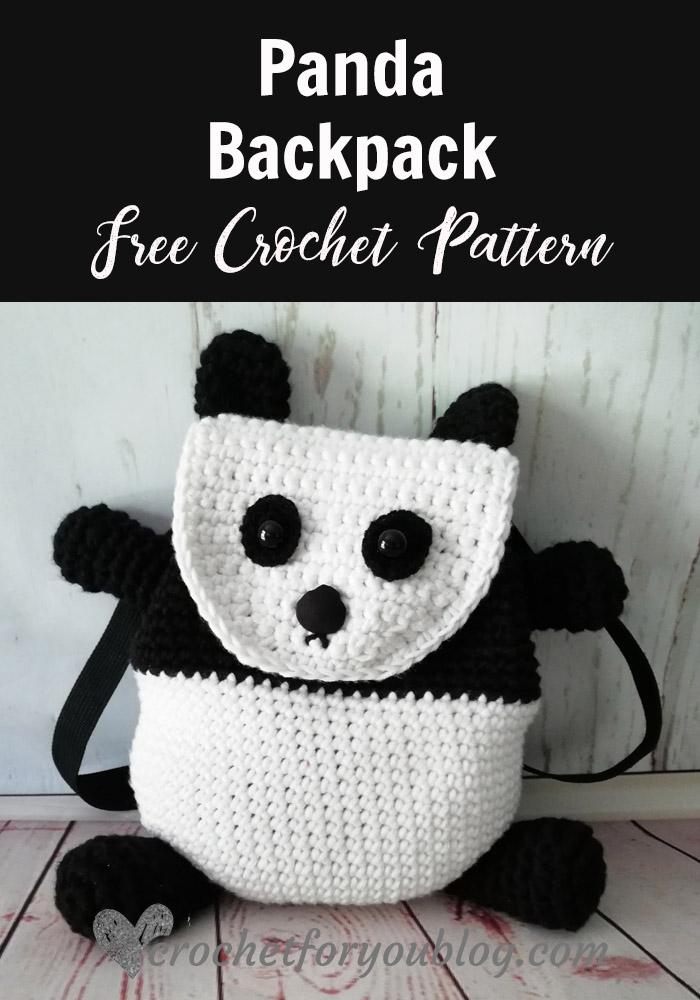 Crochet Panda Backpack Free Pattern Crochet For You