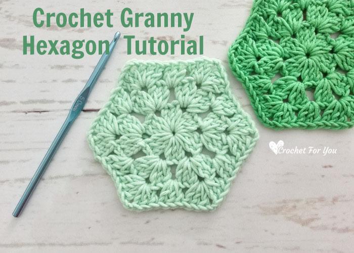 Crochet Granny Hexagon Free Pattern Crochet For You