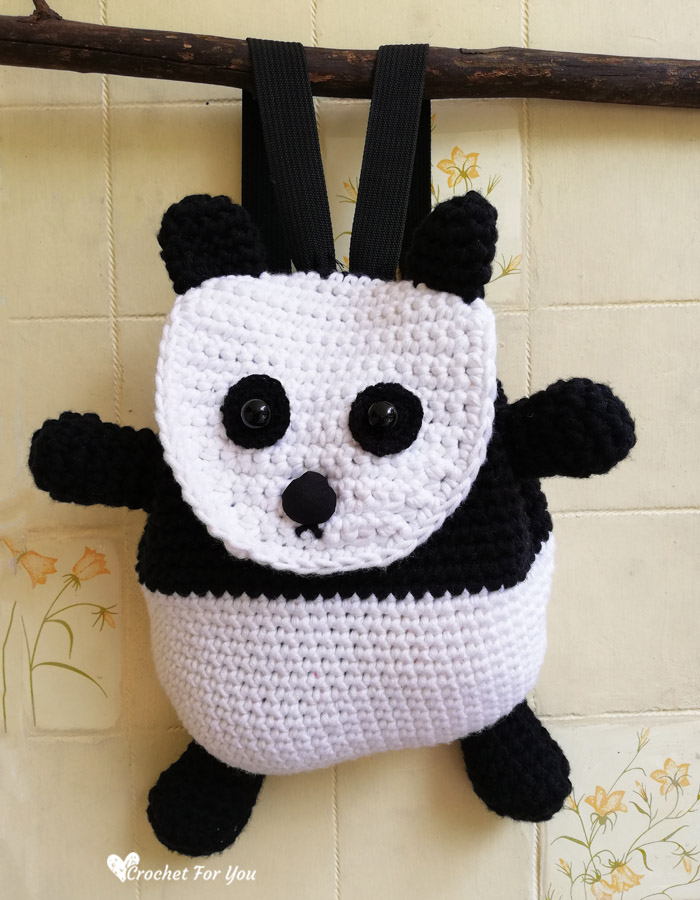 Crochet Panda Backpack Free Pattern 5 Crochet For You