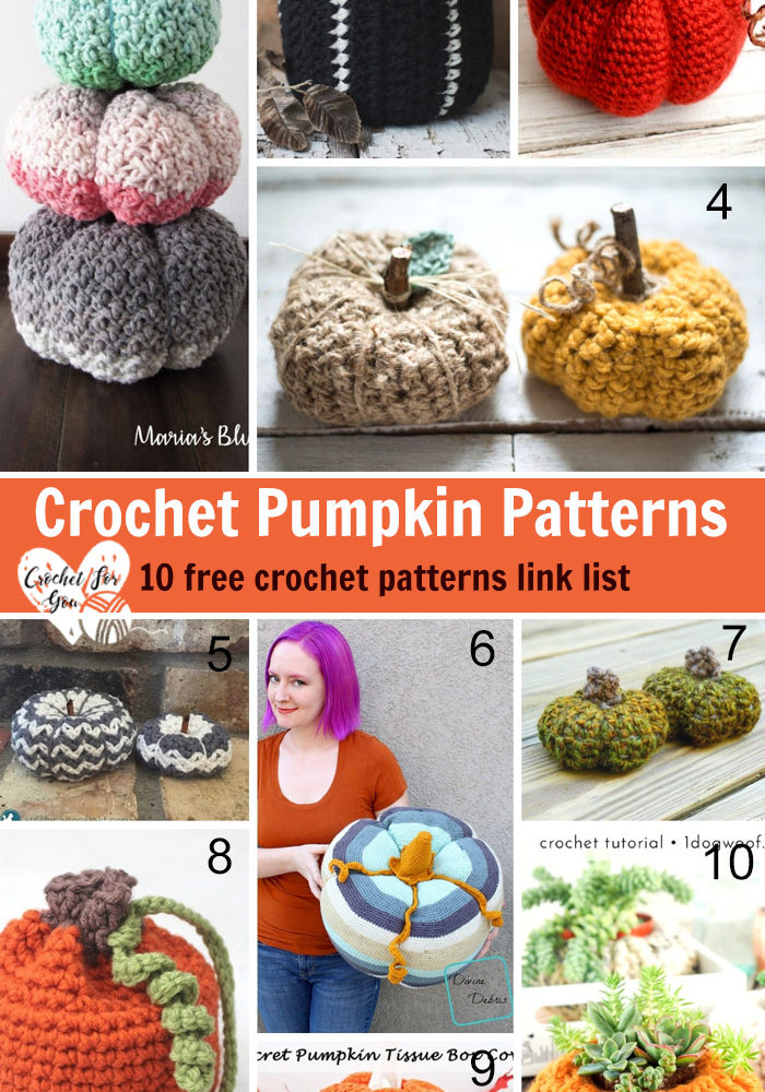 Crochet Pumpkin Patterns 10 Free Crochet Patterns Link List