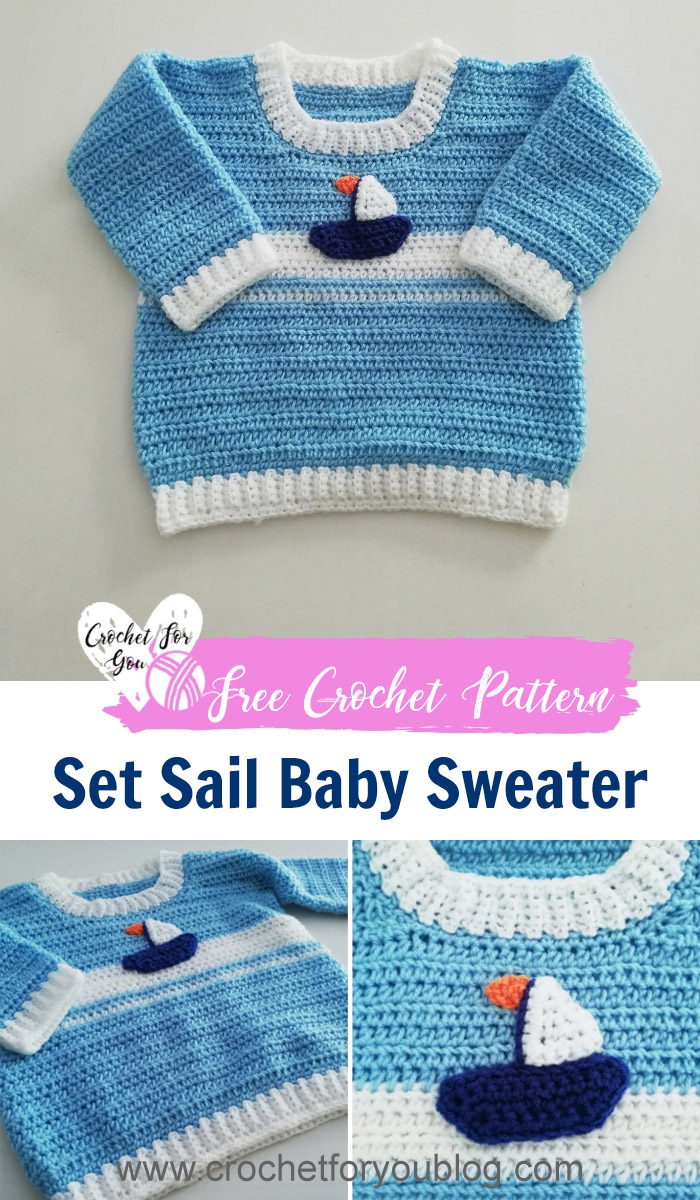 Crochet Set Sail Baby Sweater Free Pattern Crochet For You