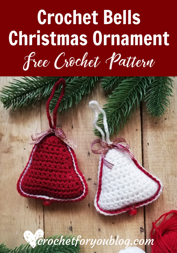 Crochet Bells Christmas Ornament Free Pattern