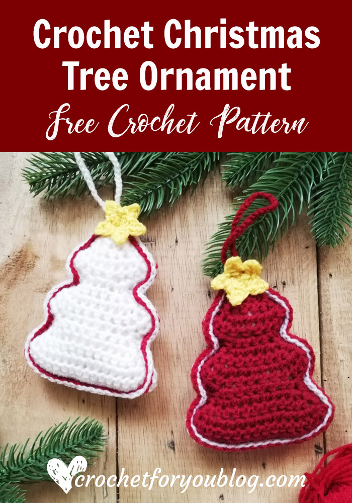 crochet christmas tree ornament free pattern