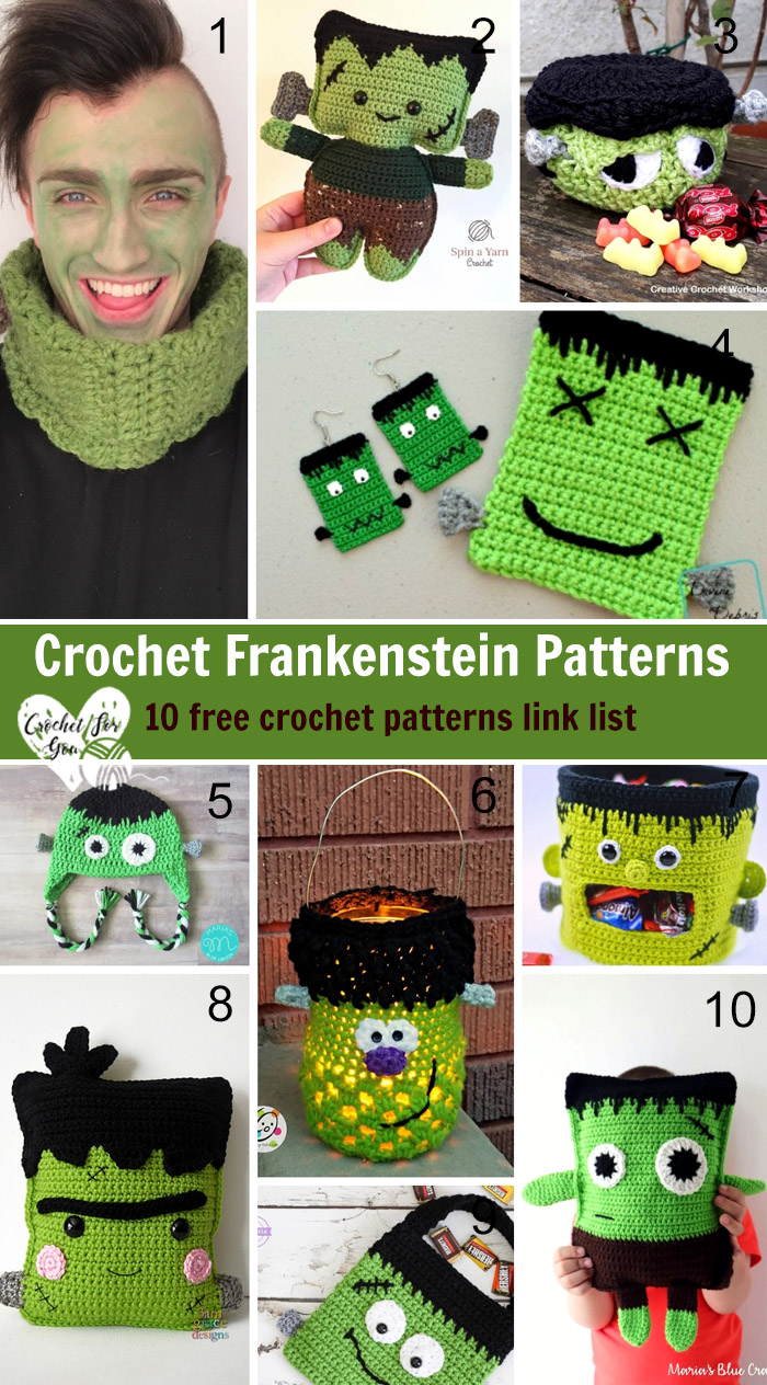 Crochet Frankenstein Patterns – 10 free crochet pattern link list
