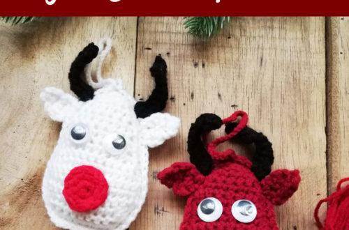Crochet Rudolf Reindeer Christmas Ornament Free Pattern
