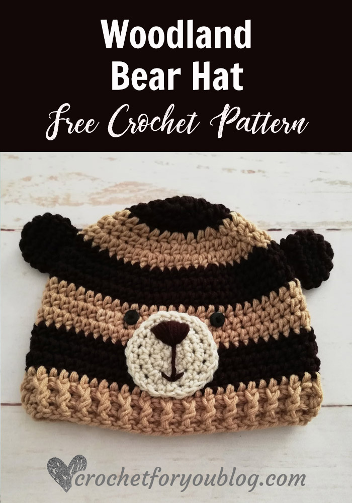 Crochet Woodland Bear Hat Free Pattern