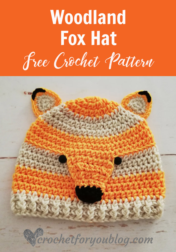 Crochet Woodland Fox Hat Free Pattern Crochet For You