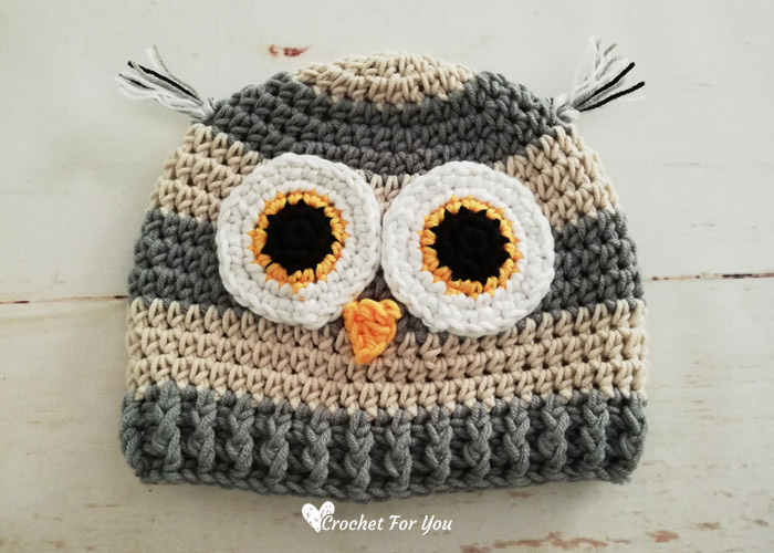 Crochet Woodland Owl Hat Free Pattern