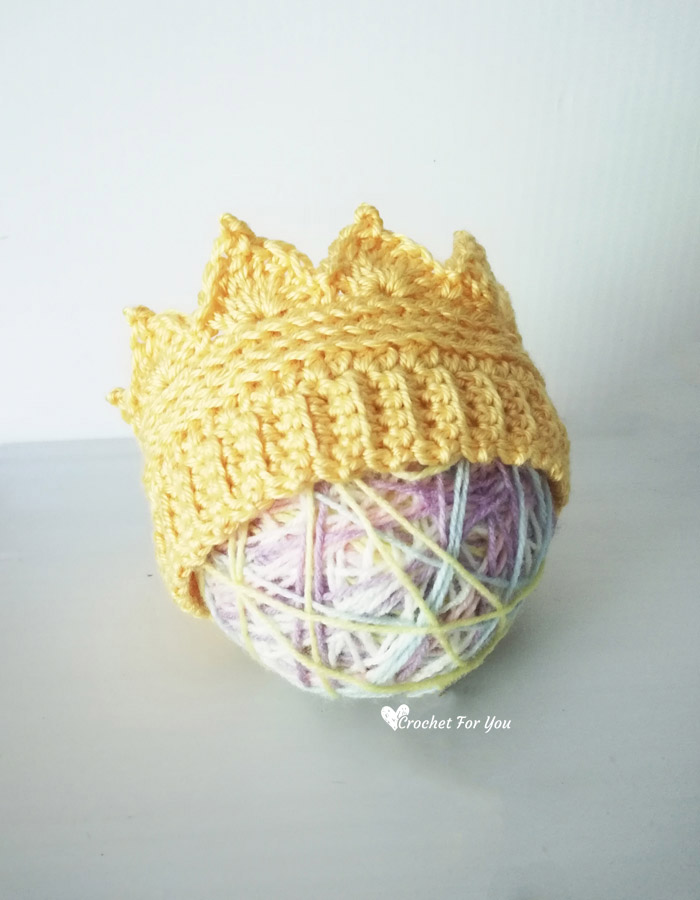 Crochet Crown Earwarmer Newborn To Toddler Sizes Free Pattern