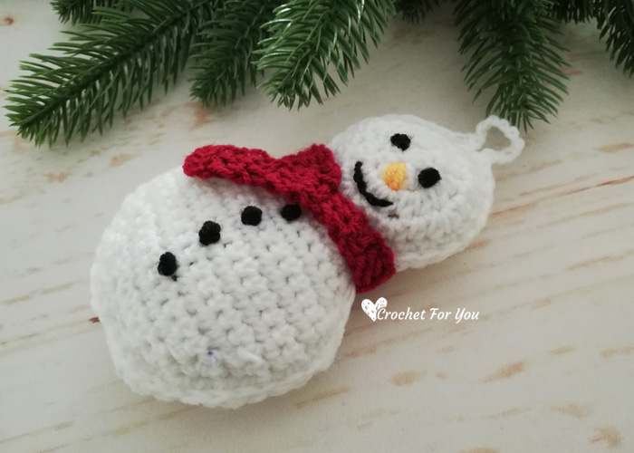 Crochet Snowman Christmas Ornament Free Pattern