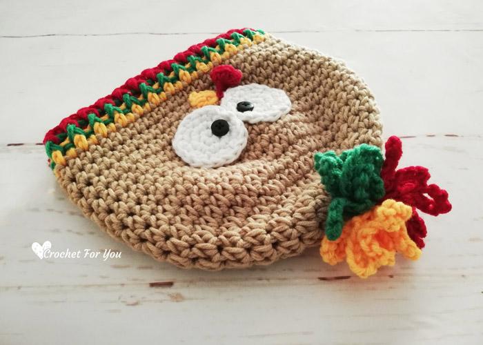 Crochet Turkey Hat Free Pattern
