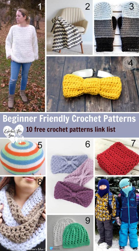 fa9256e13040d3 Beginner Friendly Crochet Patterns - Crochet For You