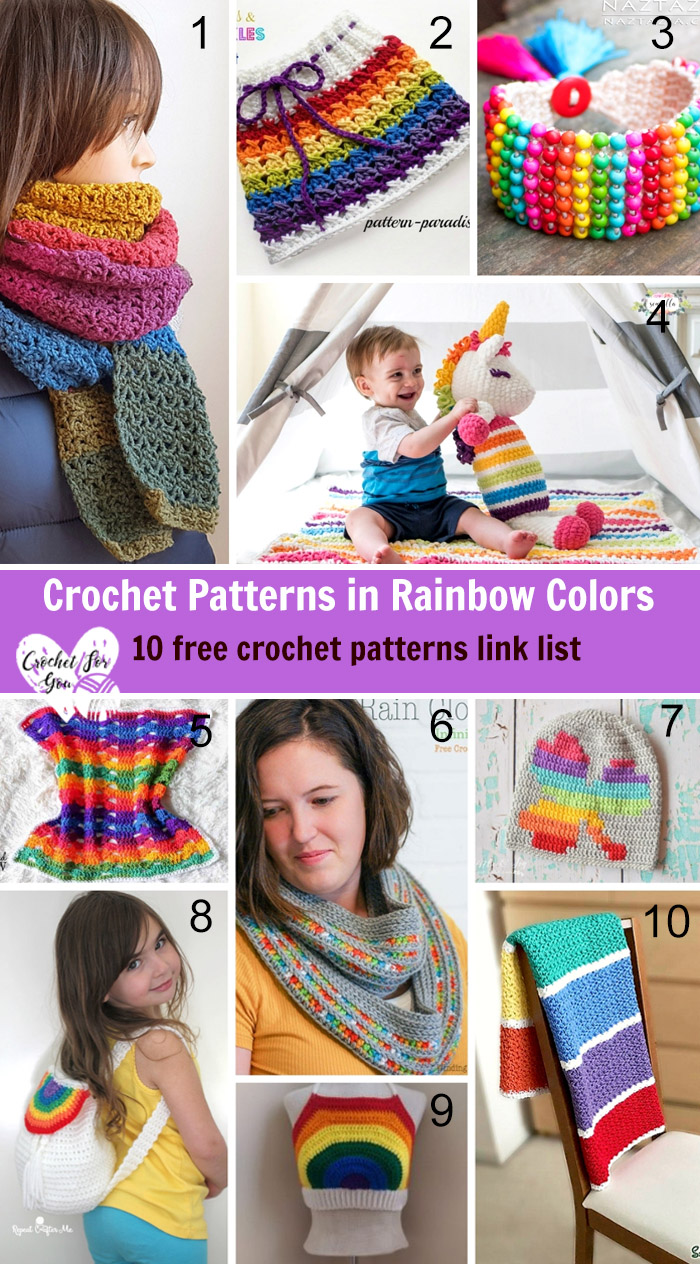 6813b11564b03c Crochet Patterns in Rainbow Colors - Crochet For You