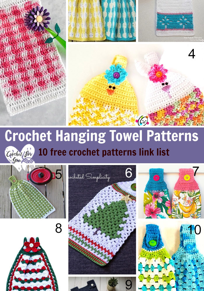 Crochet Hanging Towel Patterns - 10 free crochet patterns link list