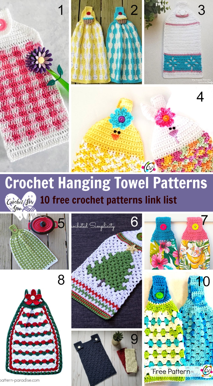 Crochet Hanging Towel Patterns Crochet For You