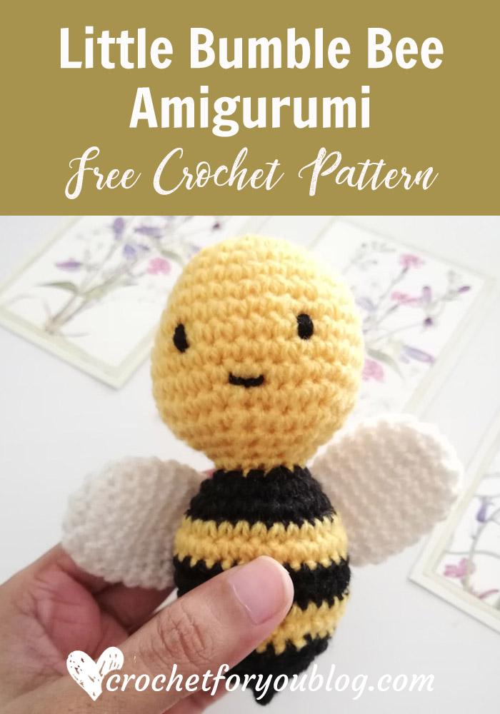 Little Bumble Bee Amigurumi Free Crochet Pattern