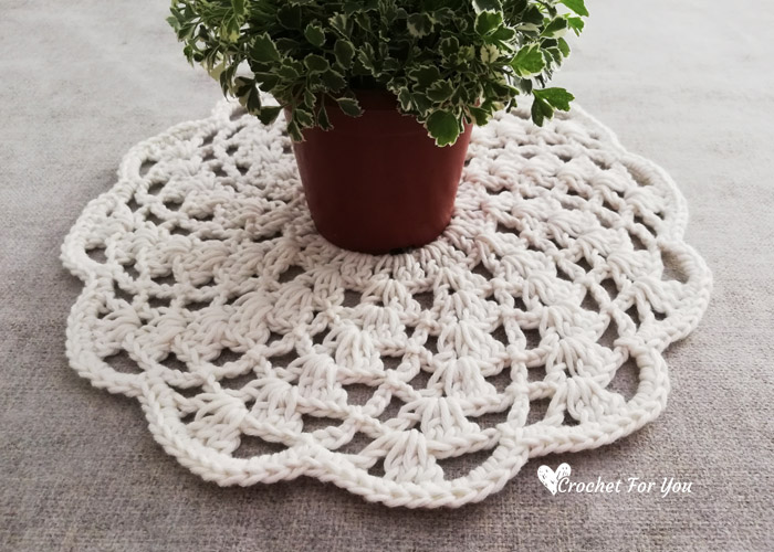 Spiral Lace Doily Free Crochet Pattern - Crochet For You