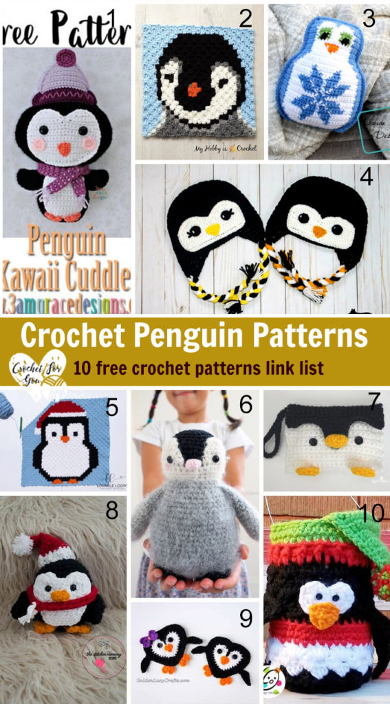 Crochet Penguin Patterns - 10 free crochet patterns link list