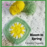 Bloom In Spring Crochet Granny Square - free pattern