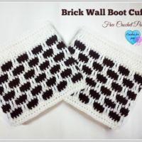 Crochet Brick Wall Boot Cuffs free pattern