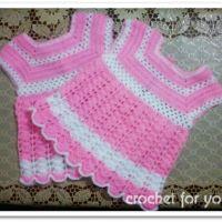 Crochet Baby Girl Dress - free pattern