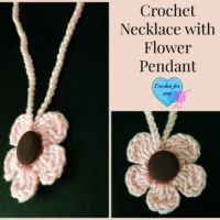 Crochet Necklace with Flower Pendant- free pattern