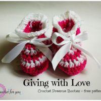 Crochet Preemie Booties - free pattern