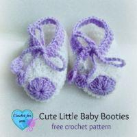 Cute Little Baby Booties - free pattern