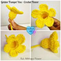 Golden Trumpet Vine - Free Crochet Flower