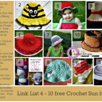 Link List 4 - 10 free crochet sun hats