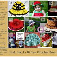 Link List 4 - 10 free crochet sun hats