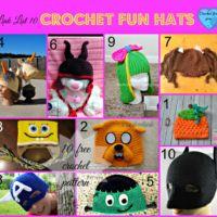 Link list 10 - Crochet Fun Hats