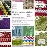 Link list 3 - 10 free Crochet Stitches