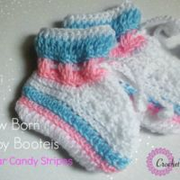 Sugar Candy Baby Booties - free crochet pattern