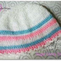 Sugar Candy Stripes Baby Hat - free crochet pattern