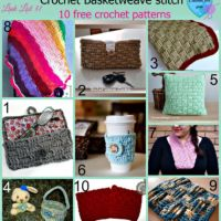 Crochet Basketweave stitch - 10 free patterns