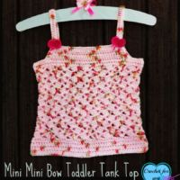 Mini mini Bow Toddler Tank Top - free crochet pattern.